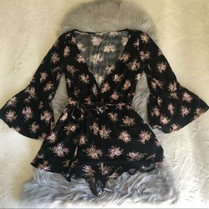 American Eagle Outfitters Floral Romper